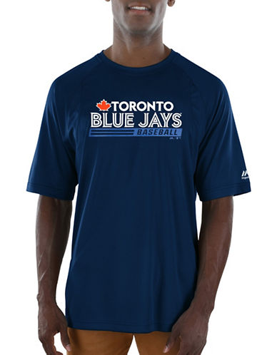 Majestic Toronto Blue Jays Sealed Tee-BLUE-X-Large