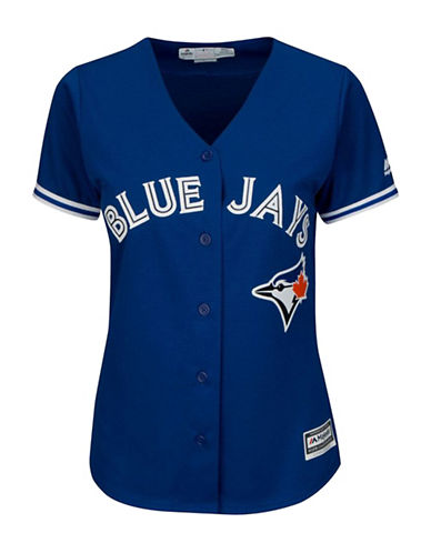 Majestic Threads Toronto Blue Jays Cool Base Away Jersey-ROYAL-X-Large