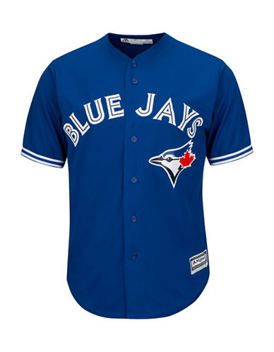 Majestic Toronto Blue Jays Cool Base Away Jersey-ROYAL-Large