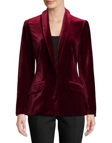 I.N.C International Concepts Velvet Blazer-RED-Medium