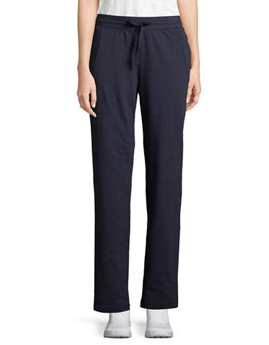Karen Scott Drawstring Knit Pants-DARK BLUE-X-Large