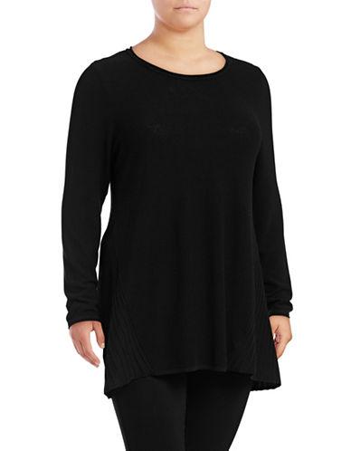 Style And Co. Plus Scoop Hi-Lo Tunic-DEEP BLACK-3X 89569845_DEEP BLACK_3X