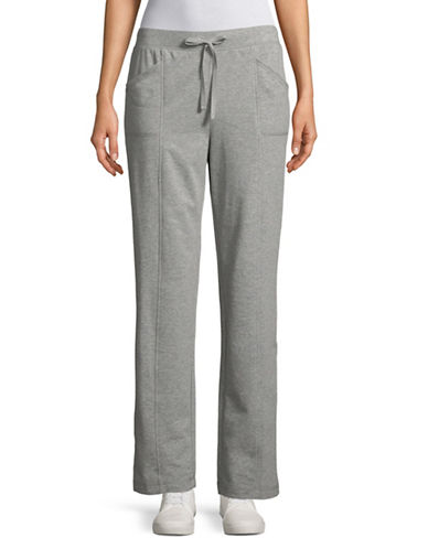 Karen Scott French Terry Jogging Pants-GREY-X-Large