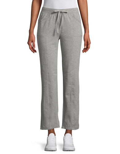 Karen Scott Petite French Terry Pants-GREY-Petite Medium