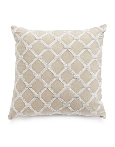 Hotel Collection Diamond Embroidery Cushion-BEIGE-20x20