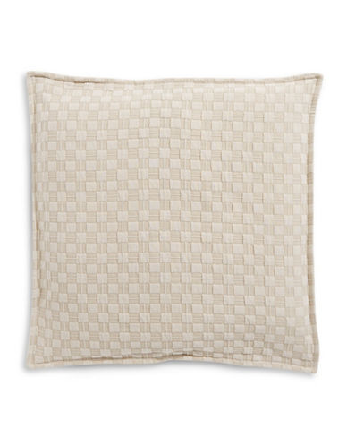 Hotel Collection Diamond Embroidered Cotton Euro Sham-BEIGE-European