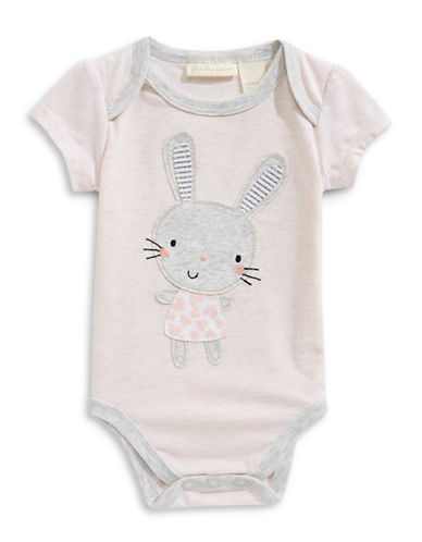 First Impressions Cotton-Blend Bunny Bodysuit-PINK-0-3 Months