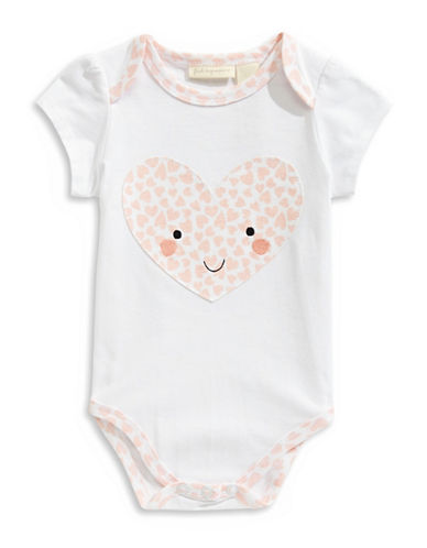 First Impressions Heart Short-Sleeve Bodysuit-WHITE-0-3 Months