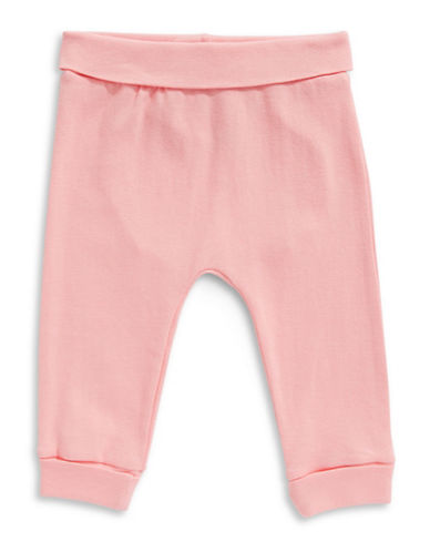 First Impressions Heart Cotton Yoga Pants-PARADISE PINK-Newborn