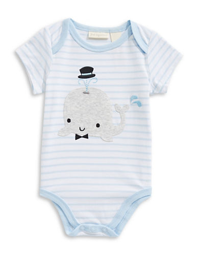 First Impressions Whale Striped Bodysuit-BLUE-12 Months