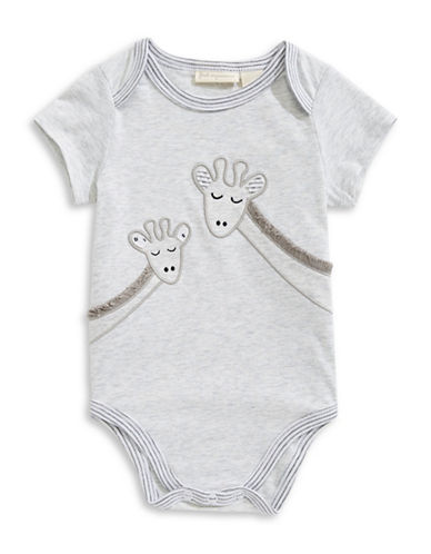 First Impressions Cotton-Blend Giraffe Bodysuit-GREY-3-6 Months