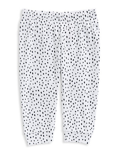 First Impressions Spotted Jogger Pants-WHITE-0-3 Months