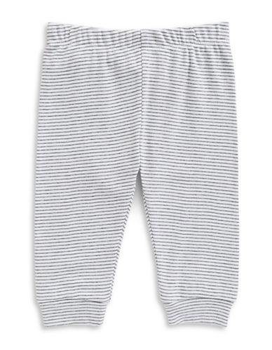 First Impressions Mini Stripe Cotton Jogger Pants-BRIGHT WHITE-3-6 Months