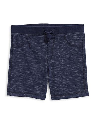 First Impressions Slub Marled Shorts-BLUE-6-9 Months