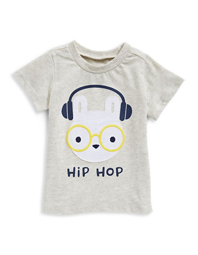 First Impressions Hip Hop Tee-SILVER-6-9 Months