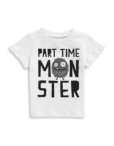 First Impressions Part Time Monster Tee-WHITE-24 Months