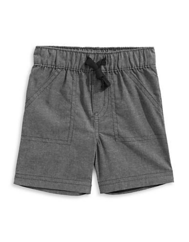 First Impressions Chambray Woven Shorts-GREY-12 Months