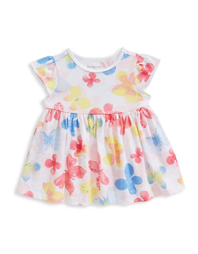 First Impressions Butterfly Cotton Tunic-BRIGHT WHITE-24 Months