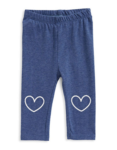 First Impressions Cotton-Blend Heart Leggings-BLUE-6-9 Months