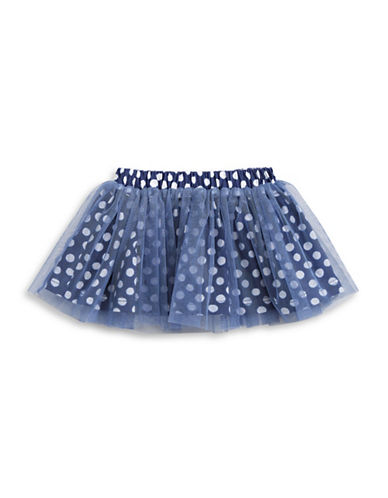 First Impressions Polka Dot Tutu Skirt-BLUE-3-6 Months