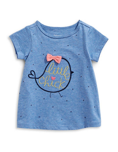 First Impressions Little Chick Cotton Tee-BLUE-24 Months