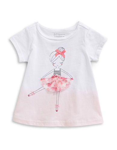 First Impressions Ballerina Cotton Tee-BRIGHT WHITE-6-9 Months
