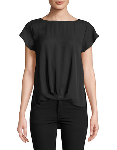 I.N.C International Concepts Twist-Front Top-BLACK-Small