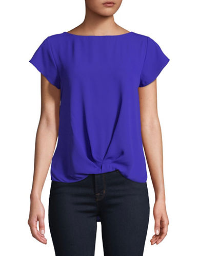 I.N.C International Concepts Twist-Front Top-BRIGHT BLUE-Large