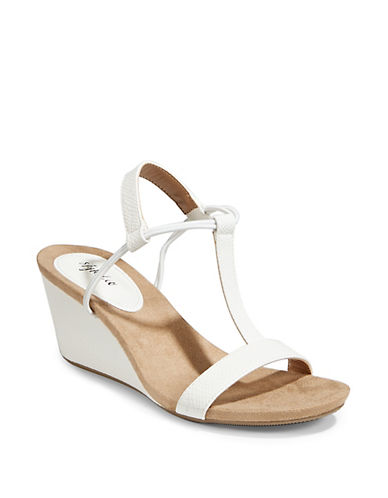 Style And Co. Mulan Wedge Sandals-NATURAL-6.5