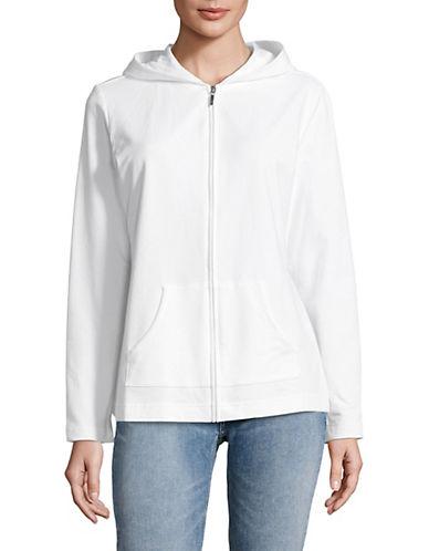 Karen Scott Full-Zip Hooded Jacket-WHITE-Large 89789105_WHITE_Large