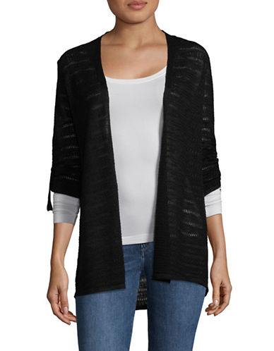 Style And Co. Utility Open Front Cardigan-BLACK-Small 89837748_BLACK_Small