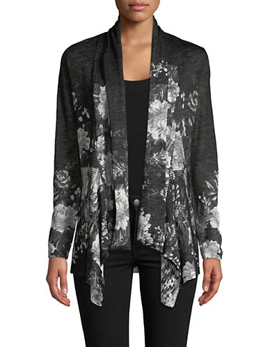 I.N.C International Concepts Printed Open Front Cardigan-BLACK-Small 89916129_BLACK_Small