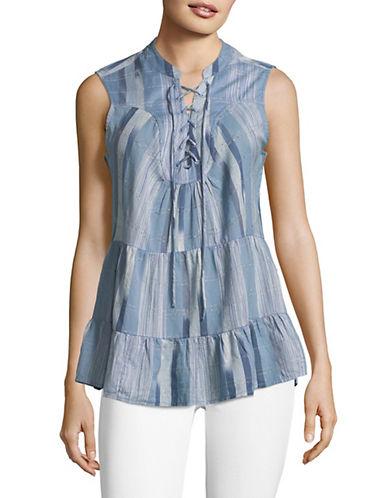Style & Co. Harvey Striped Sleeveless Top 90070634