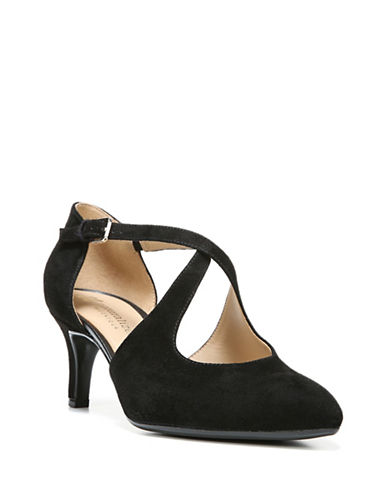 Naturalizer Okira Suede Dress Pumps-BLACK SUEDE-7.5