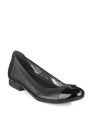 Naturalizer Therese Ballerina Flats-BLACK LEATHER-6.5W