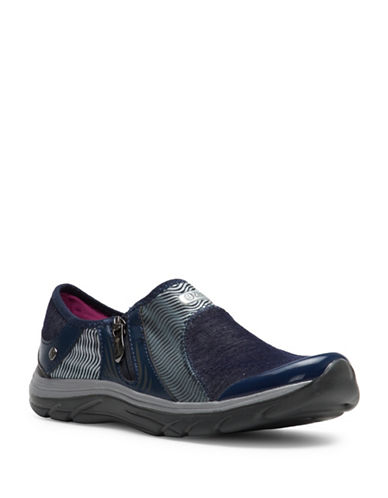 Bzees By Naturalizer Balance Side Zip Slip-Ons-BLUE-7