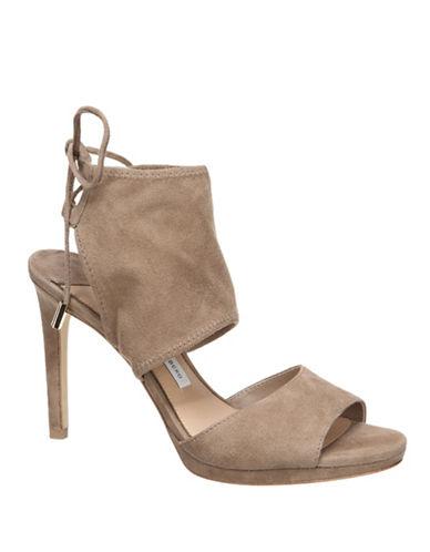 Diane Von Furstenberg Laia Stretch Heels-GREY-7.5