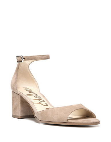 Sam Edelman Susie Suede Ankle Strap Sandals-OATMEAL-7