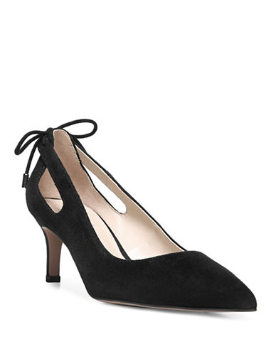 Franco Sarto Doe Pointed Toe Pumps-BLACK-6.5