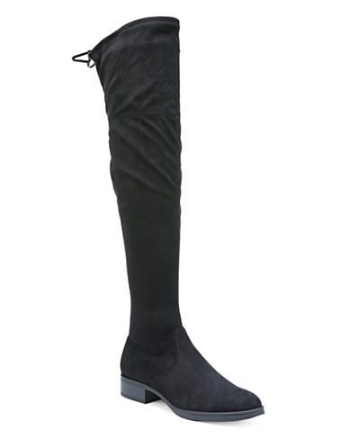 Circus By Sam Edelman Peyton Microsuede Knee-High Boots-BLACK-9.5
