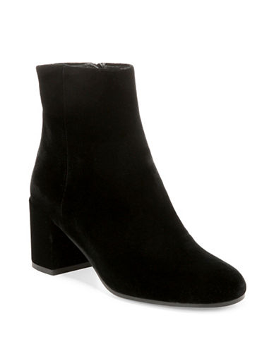 Vince Blakely Block Heel Ankle Boots-BLACK-10
