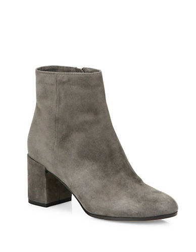 Vince Blakely Leather Booties-GREY-5