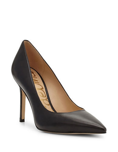 Sam Edelman Hazel Leather Pumps-BLACK-6.5