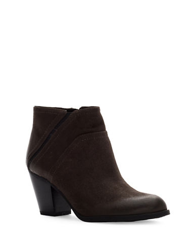 Franco Sarto Domino Leather Booties-GREY-9