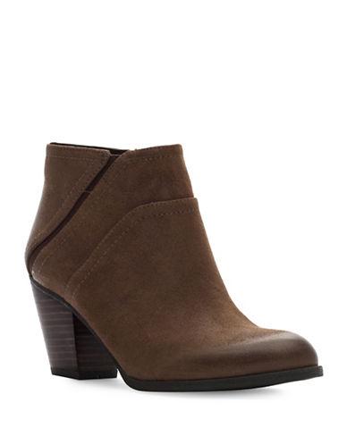 Franco Sarto Domino Leather Booties-BROWN-8