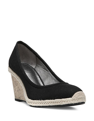 Lifestride Listed Woven Espadrille Wedge Shoes-BLACK-8
