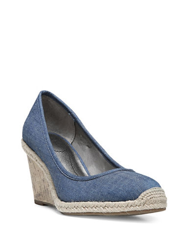 Lifestride Listed Woven Espadrille Wedge Shoes-DENIM-9