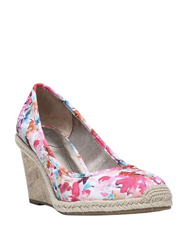 Lifestride Listed Woven Espadrille Wedge Shoes-FLORAL-8.5