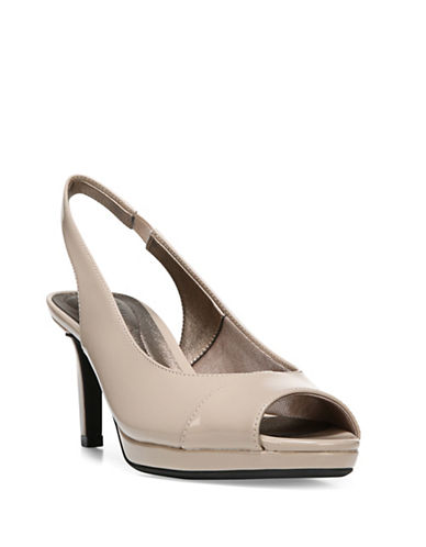 Lifestride Invest Slingback Wedge Pumps-TAUPE-7.5