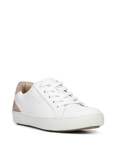 Naturalizer Morrison Faux Snakeskin Lace Sneakers-WHITE-6.5